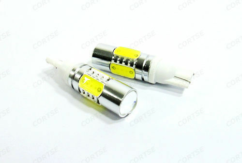 2 High Power 7.5W Plasma LED Projector bulb T10 168 194 Signal Parking Light DRL