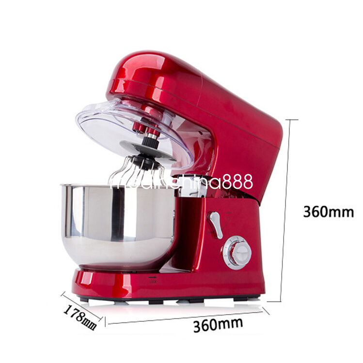 Kitchen  6-speed 5L Metallic rouge Professional Stand Mixer 1200W DHL Fast