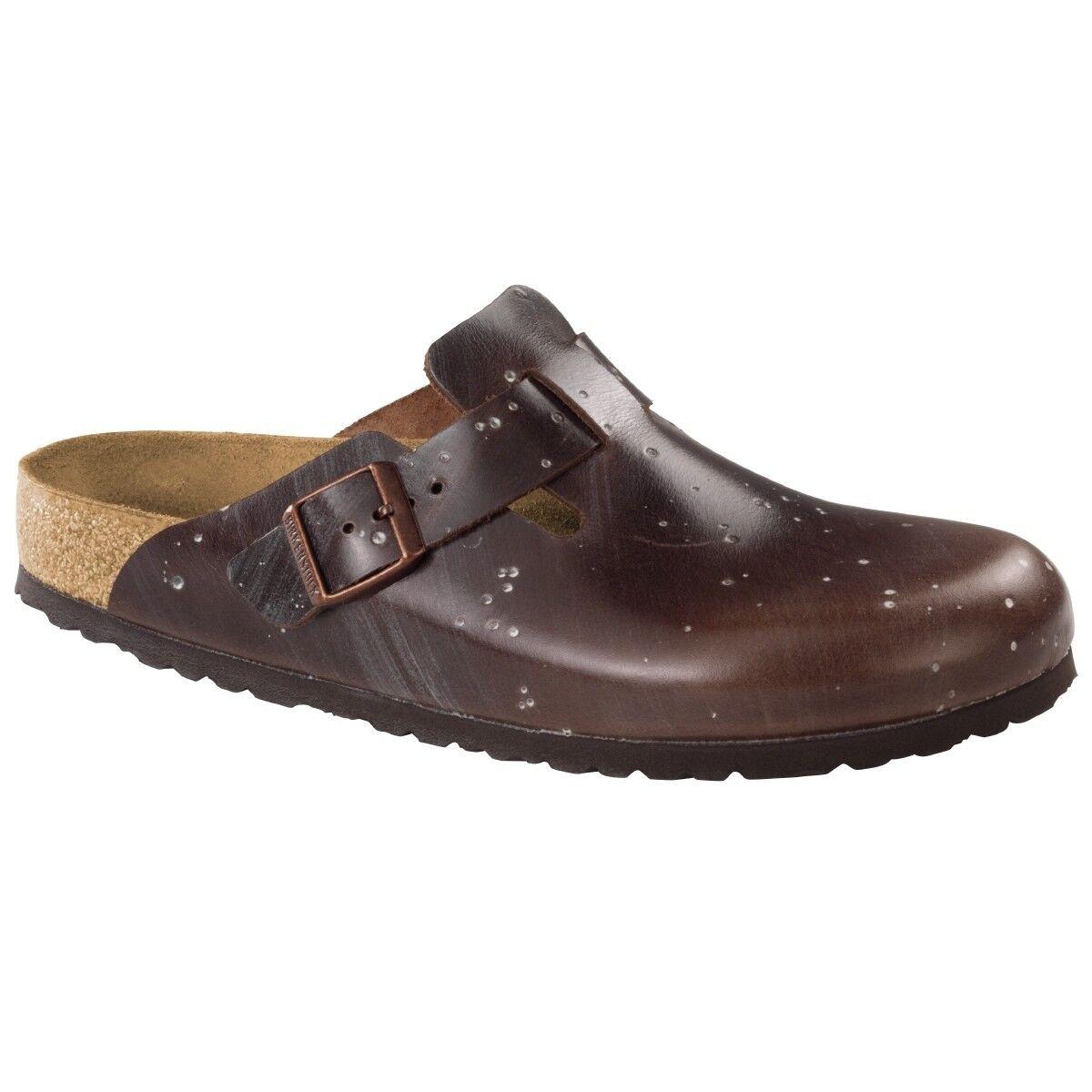 Birkenstock Boston Leder Clogs Schuhe Pantolette Clog brown Weite normal 1006580