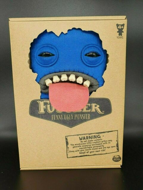 "FUGGLER Funny Ugly Monster 9"" Blue Oogah Boogah SEALED MACABRE STUFFED SOFT TOY"