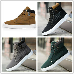 New-high-top-men-039-s-Martin-boots-casual-shoes-retro-Tie-shoelace-sneakers-Trainer