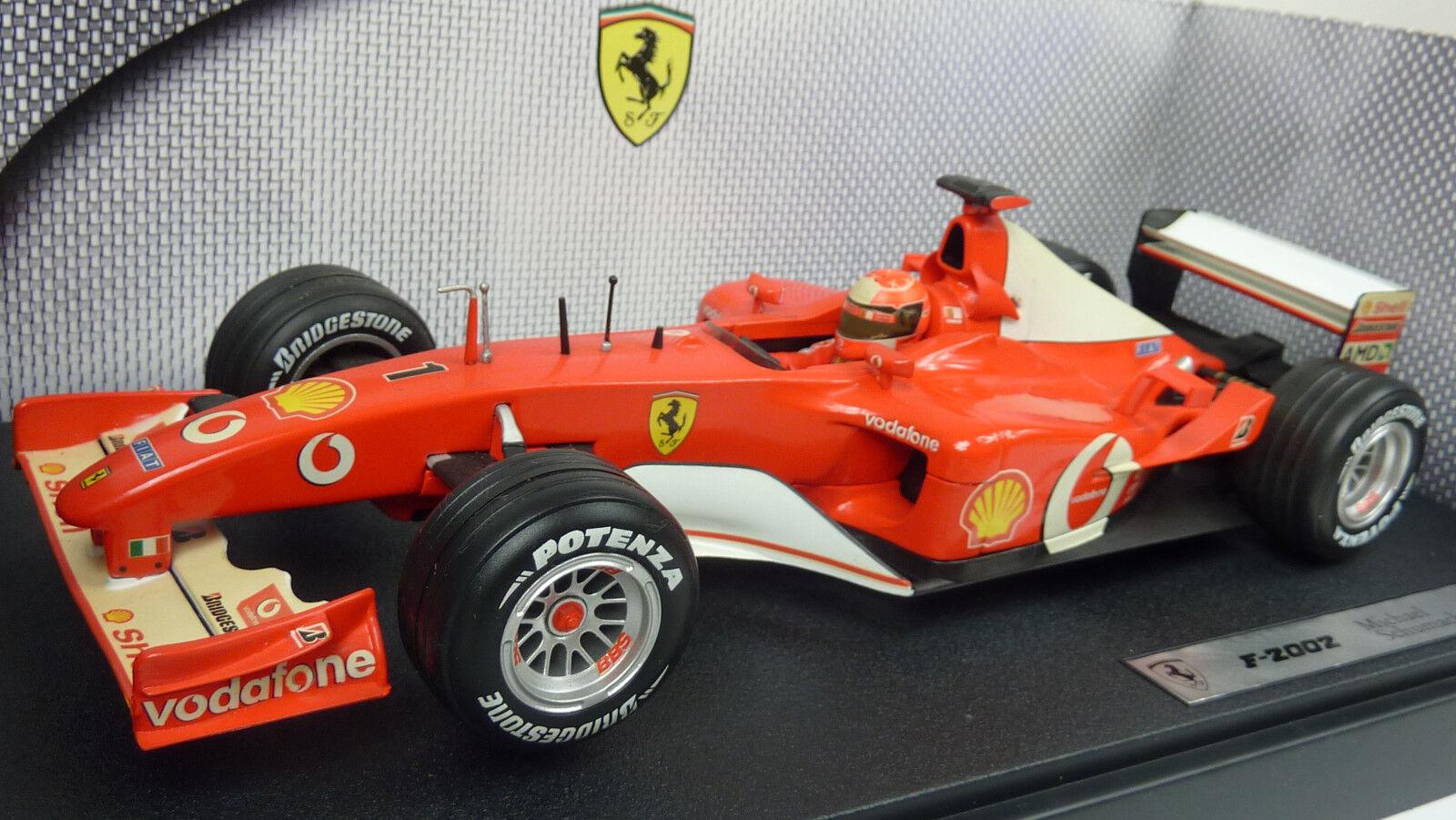 Hot Wheels Mattel 1 18 Formel 1 Ferrari F2002 Michael Schumacher OVP (A691)    Erlesene Materialien