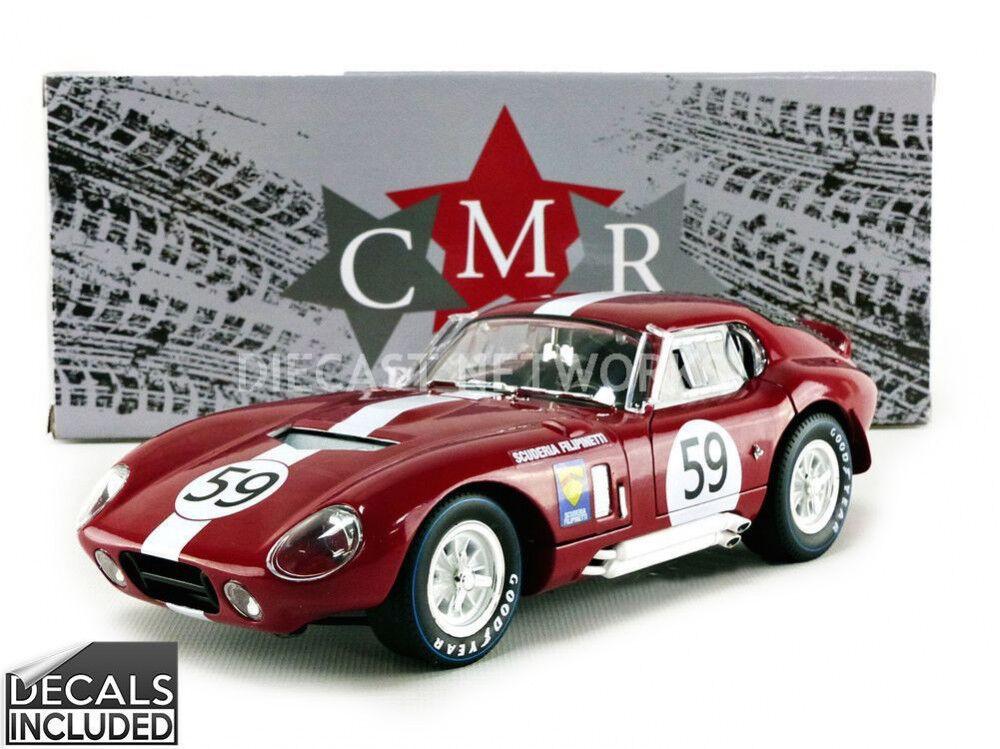 CMR Shelby Cobra Daytona coupé 24 H MANS 1965  59 avec les autocollants échelle 1 18 NOUVEAU