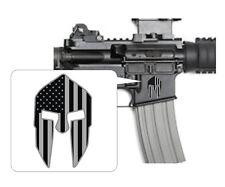 3 - Spartan Helmet Black Ops Stickers | AR15 Lower Decals | Stealth AR-15 Gun