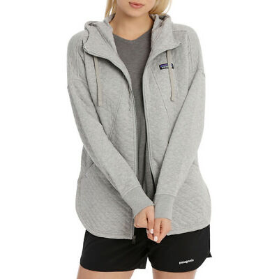 NEW Patagonia W's Cotton Quilt Hoody Grey