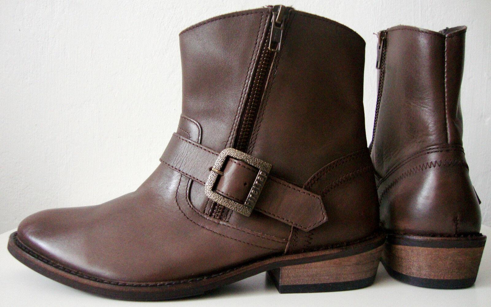 FIRETRAP Damen Stiefelette Ankle Stiefel Dealer Stiefel Leder Schuhe Gr.39 NEU