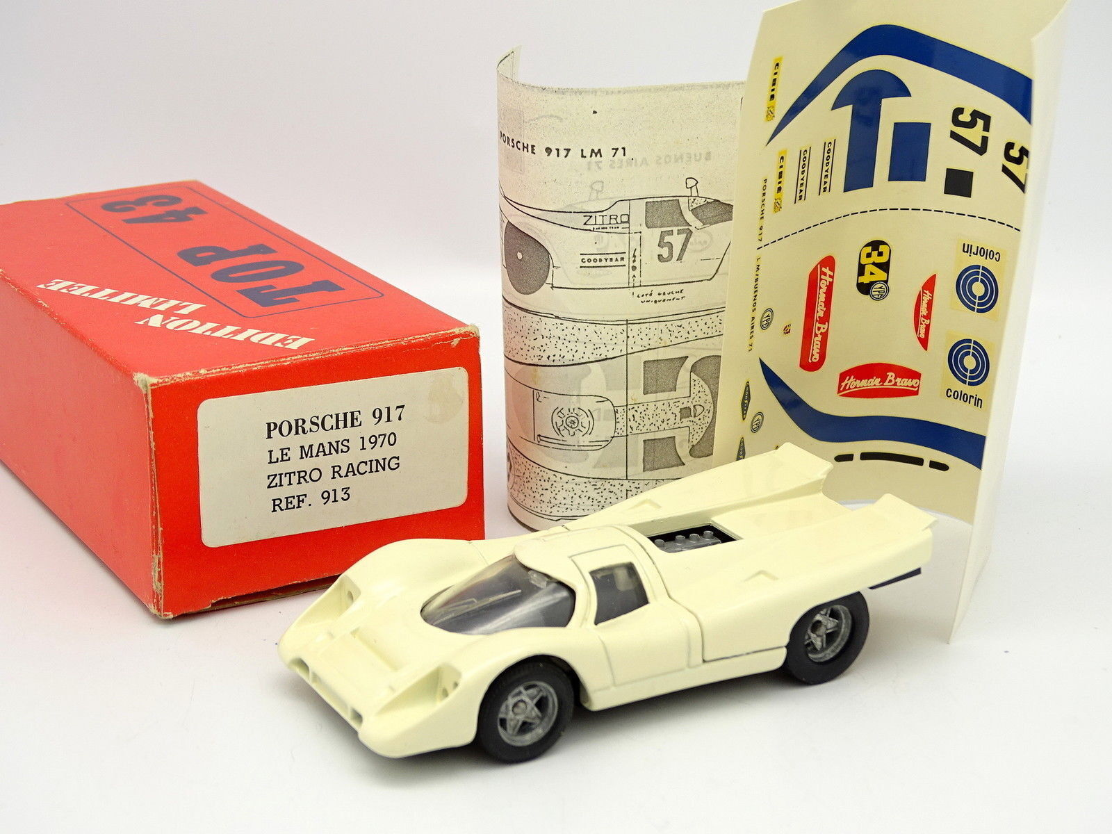 Top 43 kit to fit 1 43 - porsche 917 le mans 1970 zitro carreras