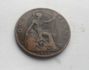 George V Penny 1919H in Good Condition - <span itemprop=availableAtOrFrom>Ross-on-Wye, United Kingdom</span> - George V Penny 1919H in Good Condition - Ross-on-Wye, United Kingdom