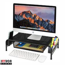Stand Riser Pc Monitor Drawer Organizer File Holder Desktop Office Computer Desk