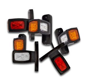 Unbranded 30 X SEGNALATORE Luce INGOMBRO 6 LED 24V 24VOLT 3 Colori Camion FANALE Laterale