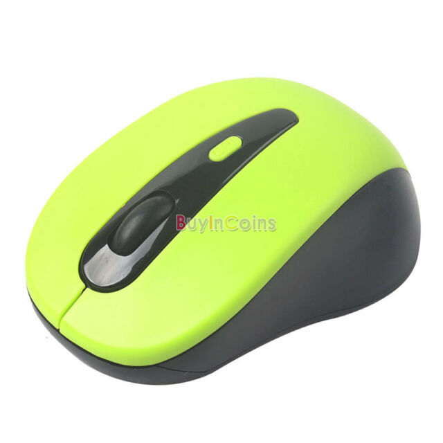 2.4G Wireless Optical Mouse Mice + USB Adapter Receiver for Laptop PC Green YU