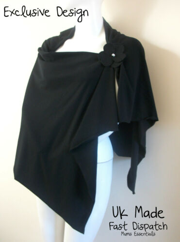 Breastfeeding Poncho Cover Hider Apron Top stretch UK Made, 2 way Designer