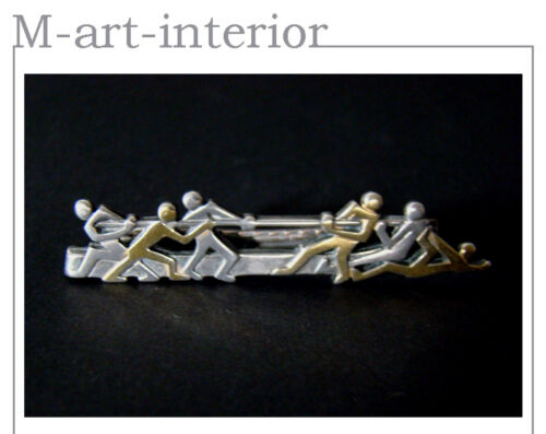 Art Déco Krawatte Clip • Sport • brass silver plated Tie Clip ca 1920-1930