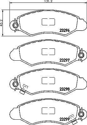 BRAND NEW GENUINE Mintex Front Brake Pad Set MDB2003 5 YEAR WARRANTY