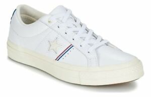 0c1bdcc4bbf84c Converse One Star OX Low Top Leather Sneaker 159694C White Enamel ...