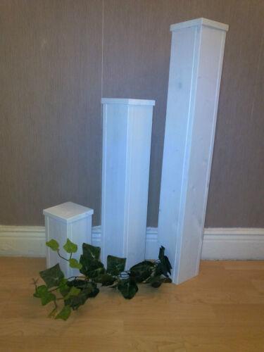 Dekosäulen 3er Set weiß Dekosäule