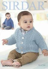 b93a3800031c Sirdar 3102 Supersoft Baby Double Knitting Pattern Cardigans by ...