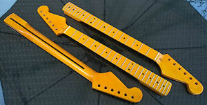 22 fret Maple Fretboard Stratocaster Canadian Maple Strat Neck Vintage Gloss