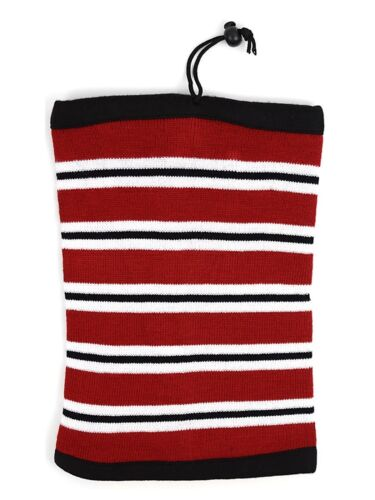 Women/'s Striped Color Acrylic 2-in-1 Head and Neck Warmer