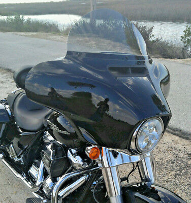 Harley Davidson 6 dark tint windshield for 2014-2019 Street Glide//Electra Glide//Ultra Classic//Tri-Glide made of superior quality Makrolan 7135 polycarbonate