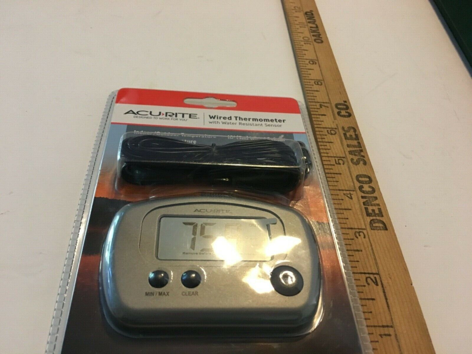 Acurite Wired Thermometer Water Resistant NIP Indoor Outdoor RV SKU 005-047
