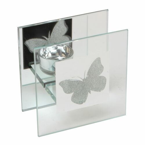 HESTIA en verre simple bougeoir avec Papillon Design-Hestia