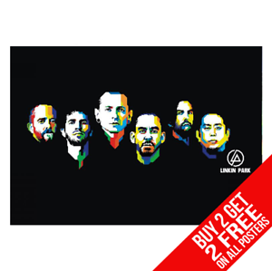 BUY 2 GET ANY 2 FREE LINKIN PARK CHESTER BENNINGTON POSTER A4 A3 SIZE PRINT