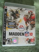 PLAY STATION NETWORK, PLAY STATION 3, MADDEN 10, NFL FOOTBALL VIDEO GAME NEW FS