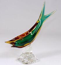 MURANO - 24,5cm Glasfigur FISCH Muranofisch Glas Figur Glasfisch - BUNT