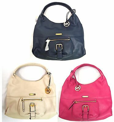 NWT MICHAEL Michael Kors Austin Large Leather Shoulder Hobo Handbag Authentic