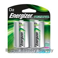 2 Energizer D Rechargeable Nimh Batteries (2500 Mah, Nh50bp-2, 1.2v)