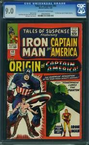 Tales-Of-Suspense-63-US-Marvel-1965-Origin-of-Capitaine-America-CGC-9-0-VFN-Presque-comme-neuf