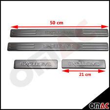EXCLUSIVE Chrom Einstiegsleisten mit Abkantung Edelstahl V2A 4-tlg 50x21 cm