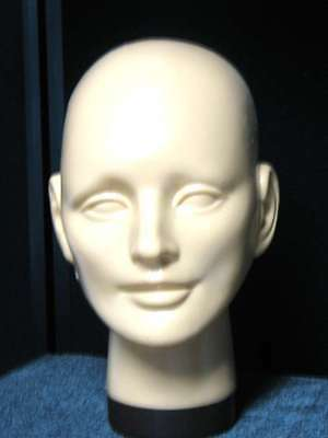 "#150 Universal Light-Skin tone Plastic Mannequin HEAD FORM-10/""H POLLY PRODUCTS"