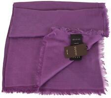 New Gucci Women's 307245 Purple Modal Cotton GG Guccissima Scarf Wrap 55 x 55
