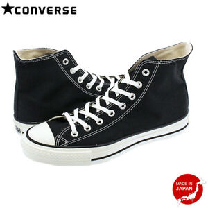 9dc0235aeaf1 CONVERSE CANVAS ALL STAR J HI BLACK Japan limited model MADE IN ...