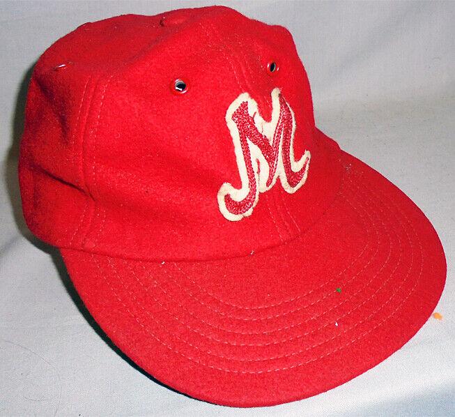 -Rare- 1940's -Mogadore, OH- Vintage Harvard High School Football Wool Hat/Cap
