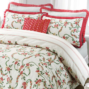 Victorian-Style-Rose-Floral-Ruffle-Quilt-Duvet-Cover-Bedding-Bed-Linen-Set