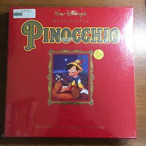 Pinocchio Collectors Edition Disney Brand New SEALED Deluxe CAV Book, CD & More