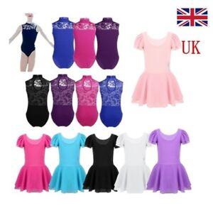 64881c50f UK Kids Girls Ballet Gymnastics Leotard Dance Dress Tutu Skirt ...