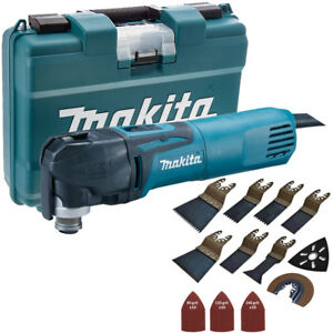 Details about Makita TM3010CK 240V Multi-Tool Quick Change Blade With 39pcs  Accessories Set