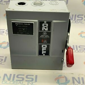 GENERAL-ELECTRIC-30A-600VAC-MODEL-10-SAFETY-SWITCH-THN3361-MOD-10-amp-7