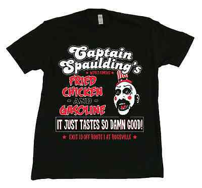 House of a Thousand Corpses Captain Spaulding t-shirt New Rob Zombie Movie Rare