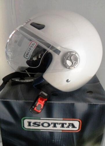 CASCO JET ISOTTA NEW CITY BIANCO PERLA CON LOGO TRICOLORE TG L
