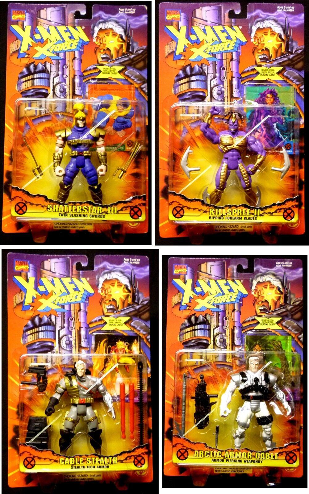 Toy Biz Marvel Comics X-Force Redeco 4 Action Figure Set New 1996