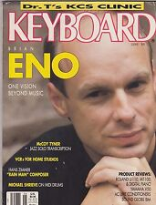 JUNE 1989  KEYBOARD music magazine BRIAN ENO
