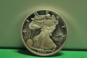 Entering the 2000 New Millennium 1 Troy oz .999 Fine Silver round coin