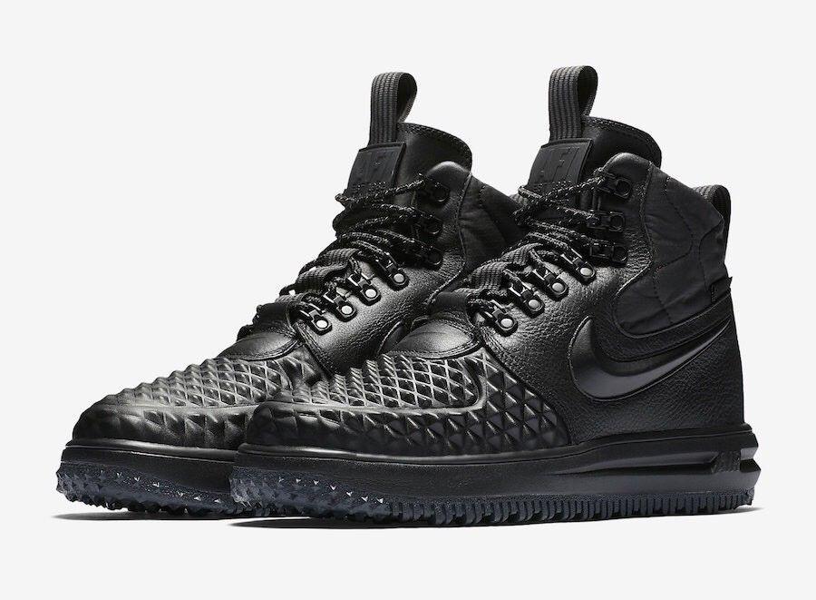 190 NIB NEW Men's Nike AF1 LF1 Lunar Force 1 Duckboot 916682 002 shoes Black
