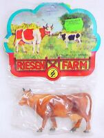 1x ZZ 1:25 Elastolin Farm Brown Standing COW Animal FIGURE G Scale Plastic MIB!