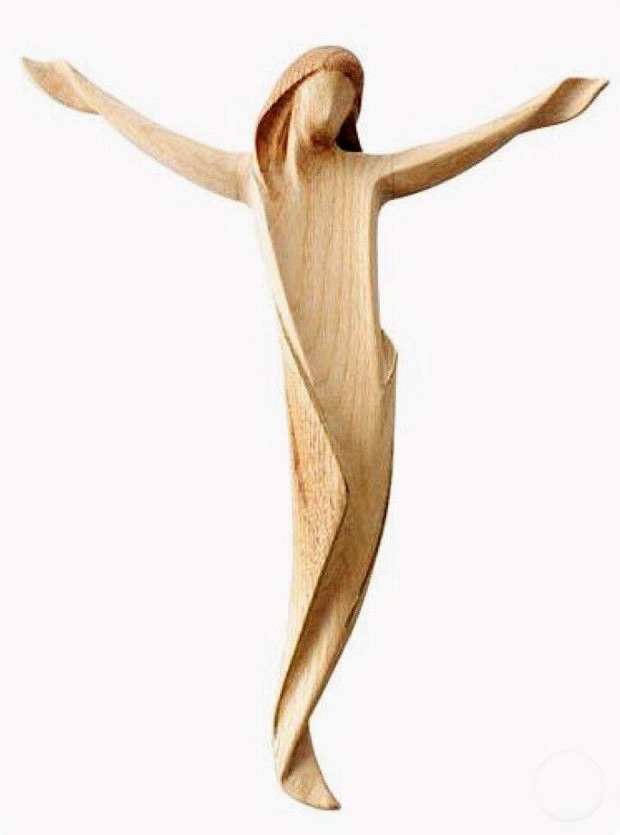 Statue Statue Statue Körper des Christus stilisiert Holz natürliche - geschnitzt Kruzifix db70f3